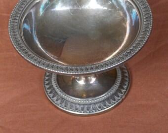 antique silver sugar bowl (1800)