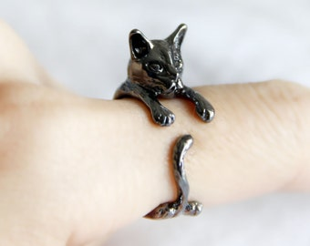Cat Rings, Black Cat Animal Adjustabl Open Rings,Vintage Kitty One Size Rings,antique Jewelry,Simple Dainty,Stackable Rings,Band One Size