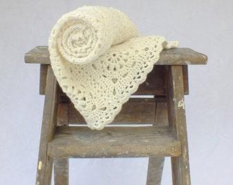 Merino Granny Square Lap Blanket