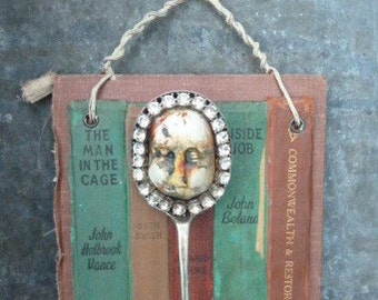 Born with a silver spoon...............altered art hanging