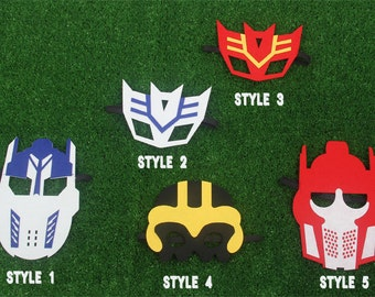 Transformer mask, Thunder mask, Bumble Bee, Optimus Prime Transformer, Transformer Birthday, Transformer,Transformer Party Favors