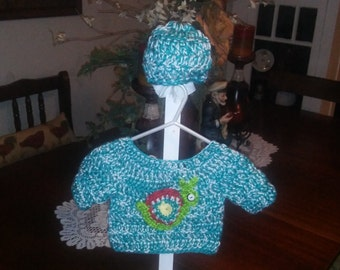 Snail sweater set for 0-6 months