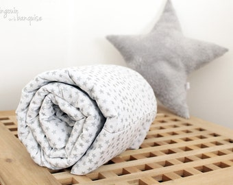 Blanket - white and Silver Star