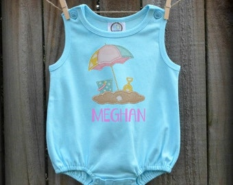 Baby Romper - Sun & Sand - Made In The USA!