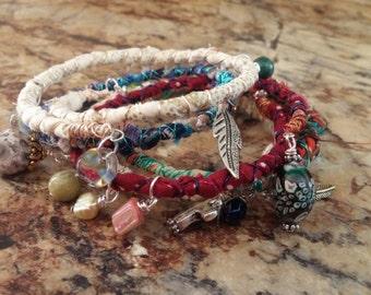 Boho Bangles - Stack of 5 Bracelets