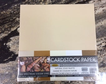 12x12 Natural Palette Cardstock Scrapbooking Paper Sandy Colors