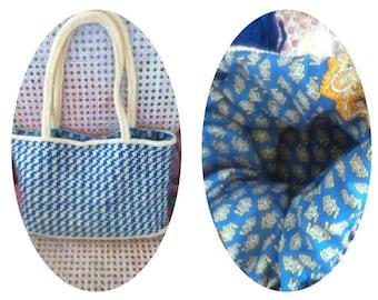 Woolen bag Houndstooth and Soleiado