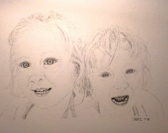 Custom pencil drawing from photo - Graphite drawing from photo - Custom sketch drawing - Art gift