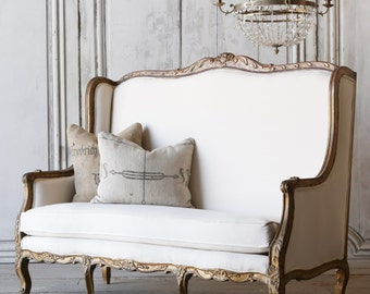 Eloquence Louis XV style Vintage Settee Sofa: 1940