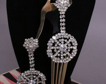 Rhinestone clips from the 60's