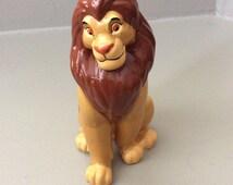 Simba,  Disney Lion King,  Adult,  Rare, Porcelain, Ceramic Figurine,  Simba Statue, The Lion King  Disney China,  Son of Mufasa and Sarabi.
