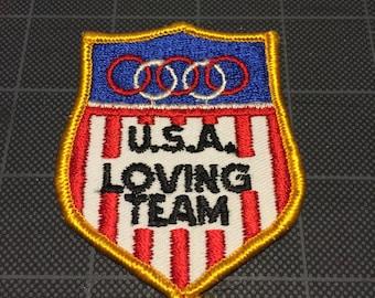 USA Loving Team Olympic Patch