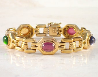 18K Yellow Gold Multistone Bracelet
