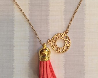 Dainty Gold Tassel Necklace