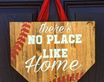 No Place Like Home Baseball, Baseball sign, Sports sign, Sports decor, Baseball Decor