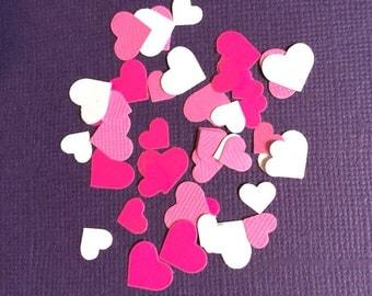 Heart Pink & White Confetti