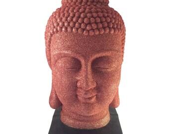 Glitter Buddha head statue