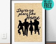 Theres no place like home, Wizard of Oz Print, Burlap Print, Quote Home Decor, New Home Gifts, New Apartment Gift, Housewarming Gifts, SD67