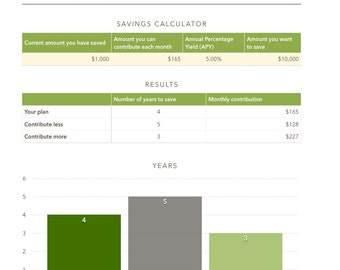 Savings Calculator-Budget-Planner-Custom-Printable-Managment