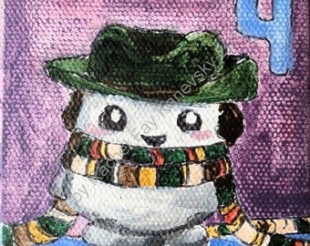Doctor Who Adipose Cosplay: Fourth Doctor Greeting Card Print