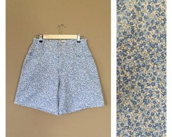 High Waisted Denim Shorts / Floral Jean Shorts / 90s Shorts / Levis High Waisted Denim Shorts / Levis Cutoffs / Denim Cutoffs / Cutoffs