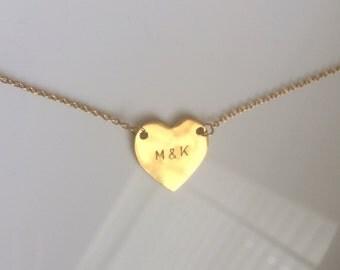 Initial Bracelet, Heart Bracelet, Personalized Jewelry, Bridesmaid Gift