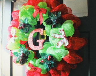 Custom Tulle Wreath