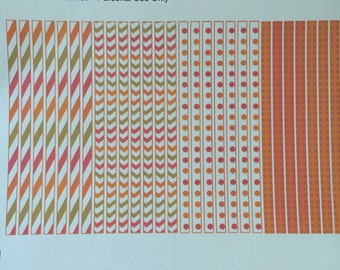 Passion Planner Stickers - Timeline Stickers in Orange