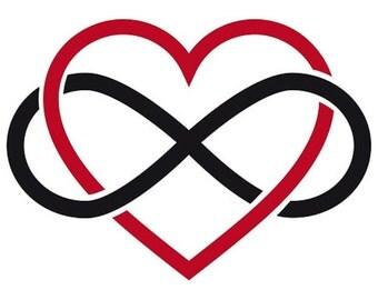 Infinity Heart Vinyl Decal
