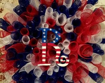 Patriotic Initial Wreath
