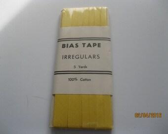 One yellow Vintage Package Bias Tape Irregular