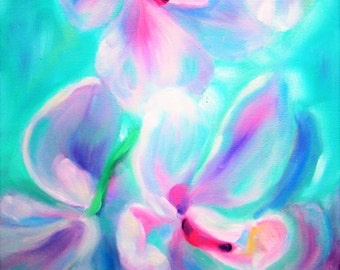 "Original painting ""Orchids garden"""