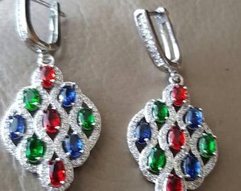 Multi Gemstone Earrings!