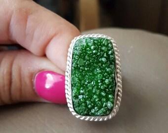 Druzy Ring- size 8.5!