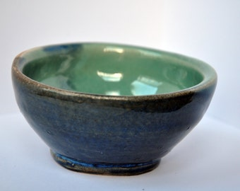 small shallow bowl two tone