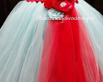 Gorgeous Aqua and Red Dress
