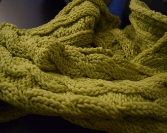 Lime Cable Scarf