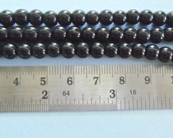 6 mm Glass Opaque Glass Beads, 3 Strands Per Pack  (Z129)
