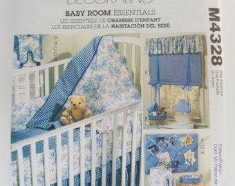 McCall's Paper Sewing Pattern M4328 Baby Room Essentials
