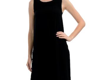 Black Sleeveless Tank Dress