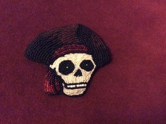 Beaded Pirate Skull