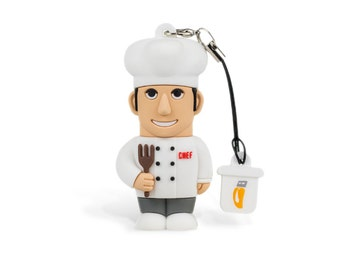 Chef Male USB Pendrive 8 GB Usb Professional