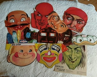 1950's Halloween Masks (set of 9)