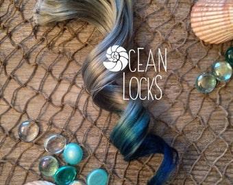 Blue Hair, Teal Hair, Grey Hair Extensions, Hair extensions clip in, Ombre hair extensions, Festival hair,  Pastel hair extensions