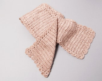Light Brown Knitted Scarf