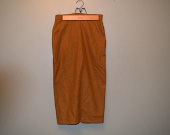 Vintage Yellow Wool Skirt