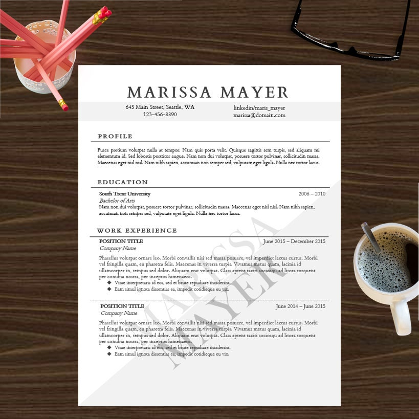 zoom - Create Your Own Resume Template