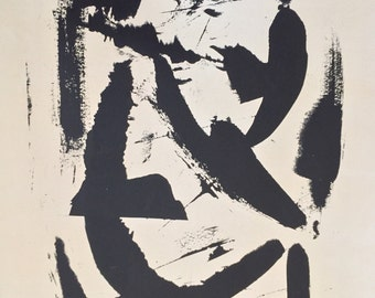 Original Black ink Abstract Screenprint