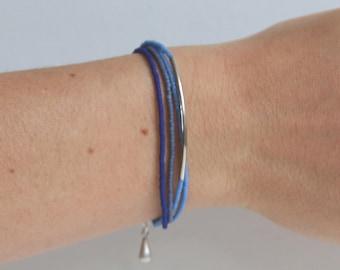 Blue harmony bracelet