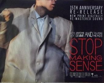 The Talking Heads 30x40 Stop Making Sense British Quad Movie Poster 1984